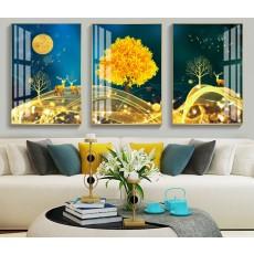 Tranh đồng hồ, tranh treo tường nghệ thuật NT177