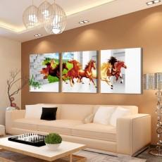Tranh đồng hồ, tranh treo tường 3 bức nghệ thuật NT184
