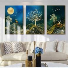 Tranh gương 3 bức tranh nghệ thuật MC140