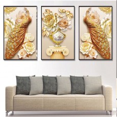Tranh gương 3 bức tranh nghệ thuật MC183