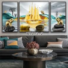 Tranh đồng hồ, tranh treo tường nghệ thuật thuận buồm xuôi gió NT270