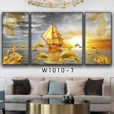 Tranh đồng hồ, tranh treo tường nghệ thuật thuận buồm xuôi gió NT283