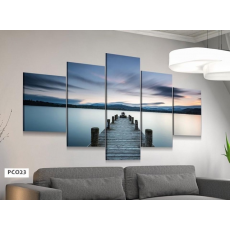 Tranh đồng hồ, tranh treo tường, 5 bức NT297