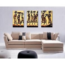 Tranh ghép bộ 3 bức nghệ thuật DH1623A (kích thước 120x60cm)