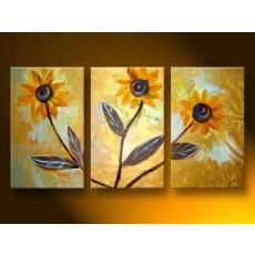Bộ tranh sơn dầu hoa hướng dương SD165 (kích thước 90x60cm)