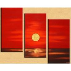 Bộ tranh sơn dầu cảnh mặt trời SD170 (kích thước 90x60cm)
