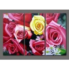 Bộ tranh sơn dầu hoa Hồng SD171 (kích thước 90x60cm)