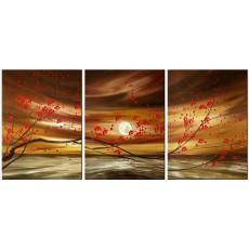 Bộ tranh sơn dầu hoa Mai SD172 (kích thước 120x60cm)