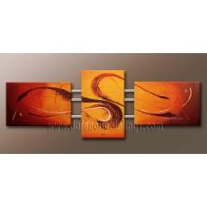 Bộ tranh sơn dầu trìu tượng SD175 (kích thước 130x50cm)
