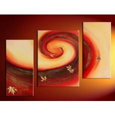 Bộ tranh sơn dầu lá Phong SD177 (kích thước 100x60cm)