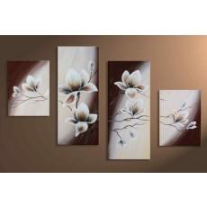 Bộ tranh sơn dầu hoa Sen SD181 (kích thước 120x80cm)
