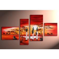 Bộ tranh sơn dầu thiếu nữ SD182 (kích thước 120x70cm)