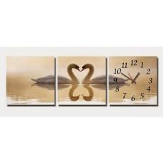 Tranh đồng hồ, tranh treo tường 3 bức nghệ thuật T02