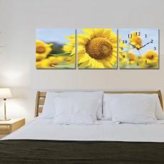 Tranh đồng hồ, tranh treo tường 3 bức nghệ thuật T04