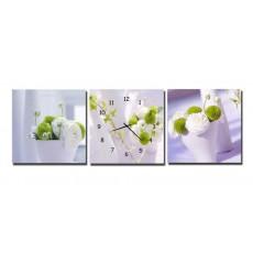Tranh đồng hồ, tranh treo tường 3 bức nghệ thuật T05