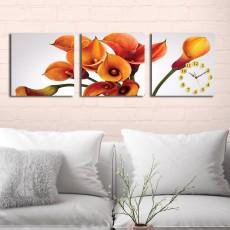 Tranh đồng hồ, tranh treo tường 3 bức nghệ thuật T15