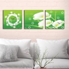 Tranh đồng hồ, tranh treo tường 3 bức nghệ thuật T16
