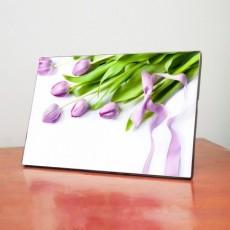 Tranh để bàn hoa Tulip tím TB002