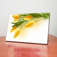 Tranh để bàn hoa Tulip vàng TB003