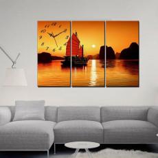 Tranh treo tường 3 bức tranh thuận buồm xuôi gió TB038