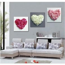 Tranh bộ 3 bức Love DH1302A (kích thước 120x40cm)