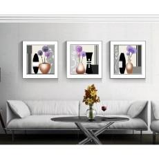 Tranh bộ 3 bức kèm khung kính TK016 (kích thước 90x30cm)