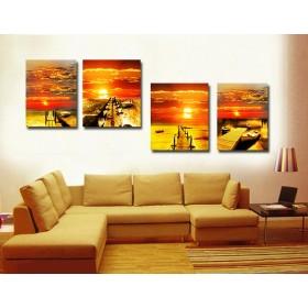 Tranh ghép bộ 4 bức nghệ thuật DH1872A kích thước 160x60cm)