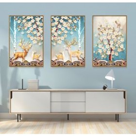 Tranh Canvas, tranh treo tường nghệ thuật Hươu CVS062B