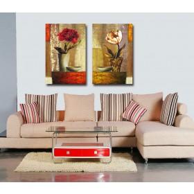 Tranh ghép bộ 2 bức nghệ thuật DH1671A (kích thước 60x60cm)