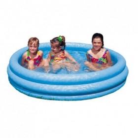 Bể bơi phao Intex ba tầng xanh thủy tinh 1m47