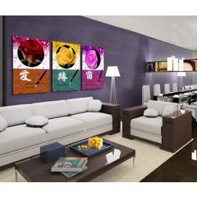 Tranh ghép bộ 3 bức nghệ thuật DH1582A (kích thước 120x60cm)