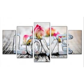 Tranh bộ treo tường chữ LOVE nghệ thuật DH554A (kích thước 140x75cm)