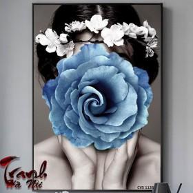 Tranh Canvas treo tường cô gái   CVS1135