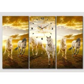 Tranh đồng hồ Ngựa phi DH391A (kích thước 75x45cm)