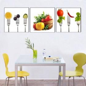 Tranh nhà bếp, tranh phòng ăn, tranh ghép bộ 3 bức nghệ thuật DH1988A