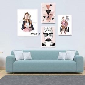 Tranh Canvas, tranh treo tường trang trí CVS1550