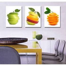 Tranh phòng bếp, tranh phòng ăn, tranh ghép bộ 3 bức nghệ thuật DH1423A