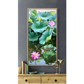 Tranh Canvas, tranh treo tường HOA SEN CVS1729