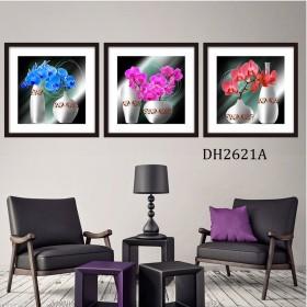 Tranh treo tường 3 bức nghệ thuật DH2621A