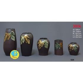 Bộ lọ hoa gốm trang trí G26