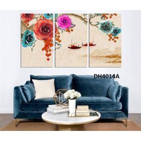 Tranh đồng hồ, tranh treo tường nghệ thuật DH4014A