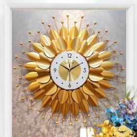 Đồng hồ trang trí lá decor DHS437