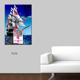 Mẫu tranh lịch đồng hồ TL70