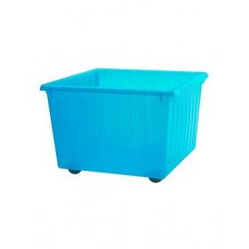Thùng nhựa đựng đồ chơi IKEA VESSLA màu xanh