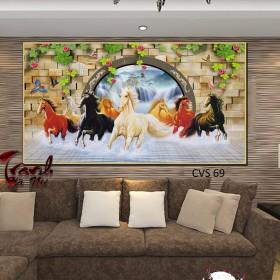 Tranh canvas treo tường Mã Đáo thành công  CVS69