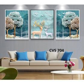 Tranh Canvas, tranh treo tường nghệ thuật Hươu CVS704
