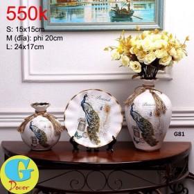 Bộ lọ hoa gốm trang trí G81