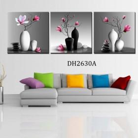 Tranh gương 3 bức hoa mộc lan MC02