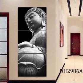 Tranh treo tường 3 bức tranh Đức Phật DH2986A