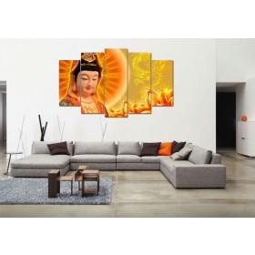 Tranh bộ Phật bà quan âm DH2157A kích thước 150x90cm)